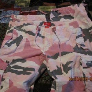 Massimo pink camo cotton dungarees